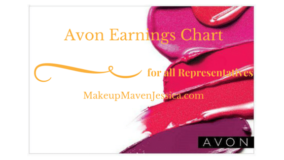 Avon Earnings Chart 2017 - How much do you make selling Avon? - Makeup Maven Jessica