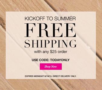 Kickoff to Summer Free Shipping