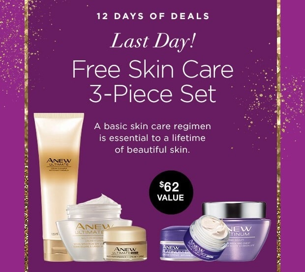 Avon 12 Days of Deals - Day 12 - Free Skin Care Set Featured